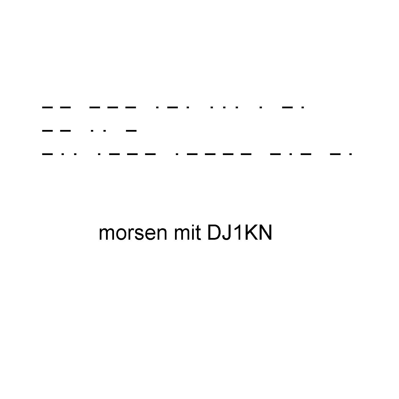 Morselehrgang von DJ1KN